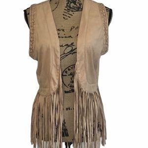 Miss Me fringe western vest size large